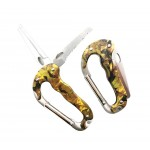 Multi function carabiner keychain tool