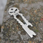 Utility Pocket Tool Tiremet Skull Opener Pry Hex Wrench Key Chain EDC Multifunction Outdoor Tool