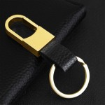 Leather Keychain Detachable Key Rings
