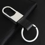 Leather Keychain Detachable Key Rings