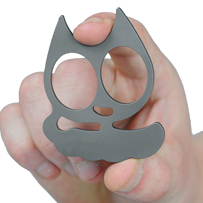 Alloy Cat Self Defense Keychain Steel Finger Knuckles Keychain