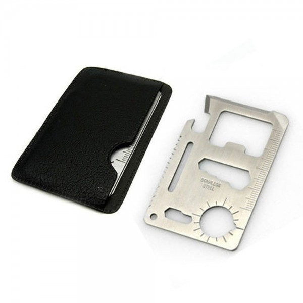 11 in 1 Multi Keychain Tool Survival Card