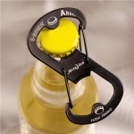 Steel Bottle Opener Carabiner Keychain