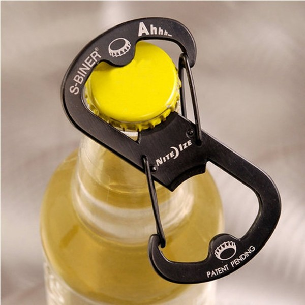 Steel Bottle Opener Carabiner Keychain
